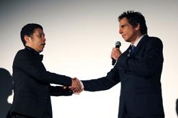映画『LIFE!』来日ジャパンプレミア、ベン・スティラー、岡村隆史(日本語吹き替え声優)