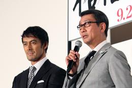 映画『柘榴坂の仇討』プレミアム試写会舞台挨拶、中井貴一、阿部寛