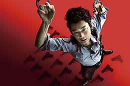 映画『日本で一番悪い奴ら』完成披露舞台挨拶、綾野剛、中村獅童、YOUNG DAIS、植野行雄(デニス)、ピエール瀧、白石和彌監督