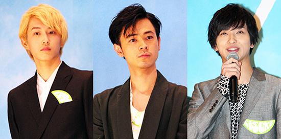 映画『キセキ ーあの日のソビトー』完成披露舞台挨拶、横浜流星、成田凌、杉野遥亮