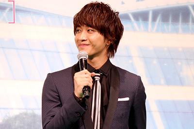 映画『恋と嘘』完成披露舞台挨拶、佐藤寛太