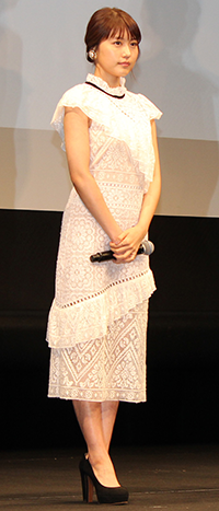 映画『ナラタージュ』舞台挨拶、松本潤、有村架純、坂口健太郎、行定勲監督