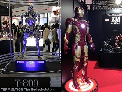 """【東京コミコン2017】『ターミネーター』で実際に撮影で使われたターミネーターT-800/""""アイアンマン"""""""
