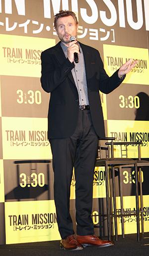 映画『トレイン・ミッション』ジャパンプレミア、リーアム・ニーソン