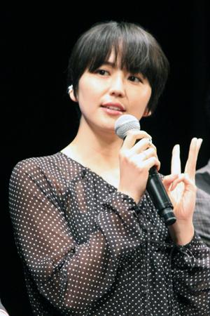 映画『50回目のファーストキス』完成披露試写会舞台挨拶、長澤まさみ