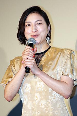 映画『ラブ×ドック』公開記念舞台挨拶、広末涼子