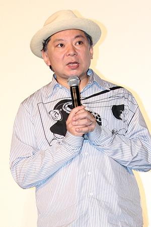 映画『ラブ×ドック』公開記念舞台挨拶、鈴木おさむ監督