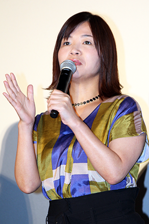 映画『ラブ×ドック』公開記念舞台挨拶、大久保佳代子