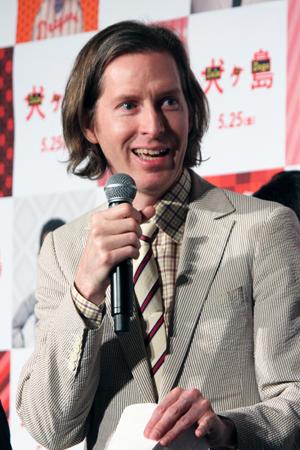 映画『犬ヶ島』来日舞台挨拶、ウェス・アンダーソン監督