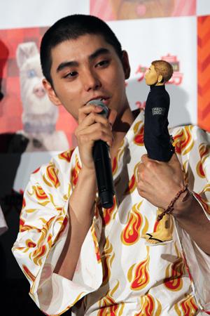 映画『犬ヶ島』来日舞台挨拶、村上虹郎