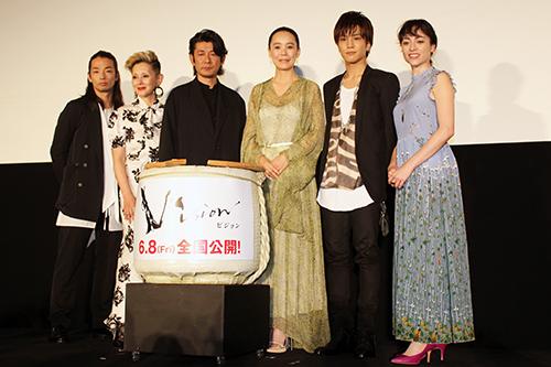 映画『Vision』完成披露イベント、永瀬正敏、岩田剛典、美波、森山未來、夏木マリ、河瀬直美監督