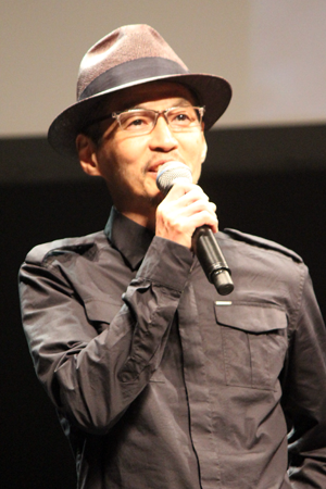 映画『パンク侍、斬られて候』公開記念舞台挨拶、石井岳龍監督