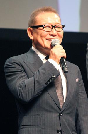 映画『パンク侍、斬られて候』公開記念舞台挨拶、國村隼