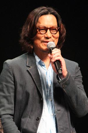 映画『パンク侍、斬られて候』公開記念舞台挨拶、豊川悦司