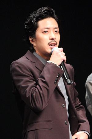 映画『パンク侍、斬られて候』公開記念舞台挨拶、若葉竜也