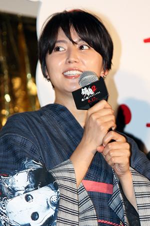 映画『銀魂2 掟は破るためにこそある』完成披露試写会舞台挨拶:長澤まさみ
