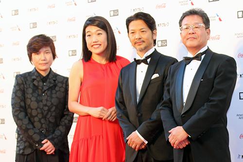 第31回東京国際映画祭:『えちてつ物語〜わたし、故郷に帰って来ました。〜My Train Diary』横澤夏子/緒形直人ほか