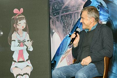映画『アリータ:バトル・エンジェル』来日記者会見:クリストフ・ヴァルツ、キズナアイ(特別ゲスト=最強のヴァーチャルYouTuber)